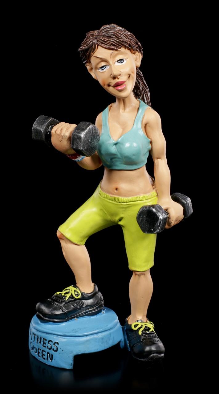 Funny Sports Figur - Fitness Queen mit Gewichten