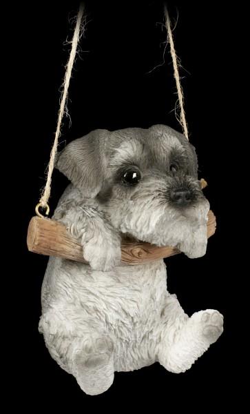 Hängende Hunde Figur - Schnauzer Welpe