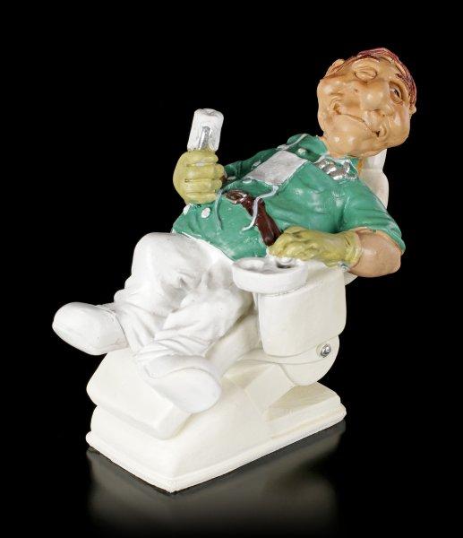 Funny Job Figur - Zahnarzt behandelt sich selbst