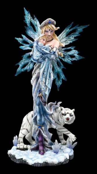 Fairy Figurine with Baby and Tiger