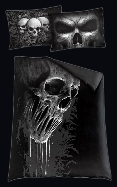 Totenkopf Bettwäsche - Skull Scroll