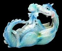 Dragon Figurine - Sweetest Moment - blue