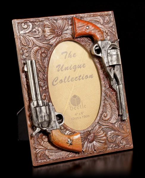 Wilder Westen Bilderrahmen - Zwei Pistolen
