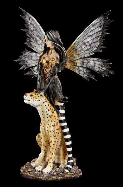 Large Fairy Figurine - Leora with Leopard