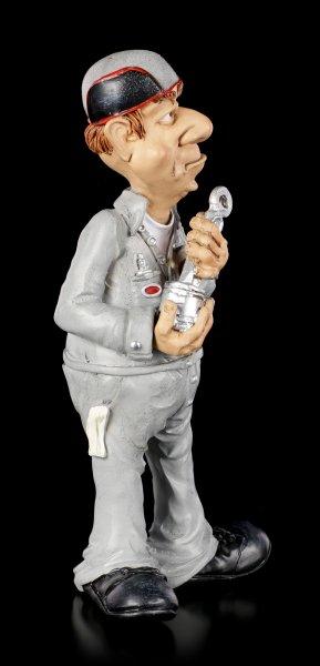 Funny Job Figur - Mechaniker mit Kolben
