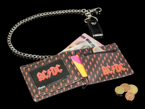 Herren Geldbörse - AC/DC Logo mit Kette