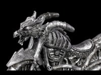 Drachen Motorrad - silberfarben
