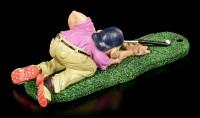 Golfspieler Figur - Schläger als Billard Queue