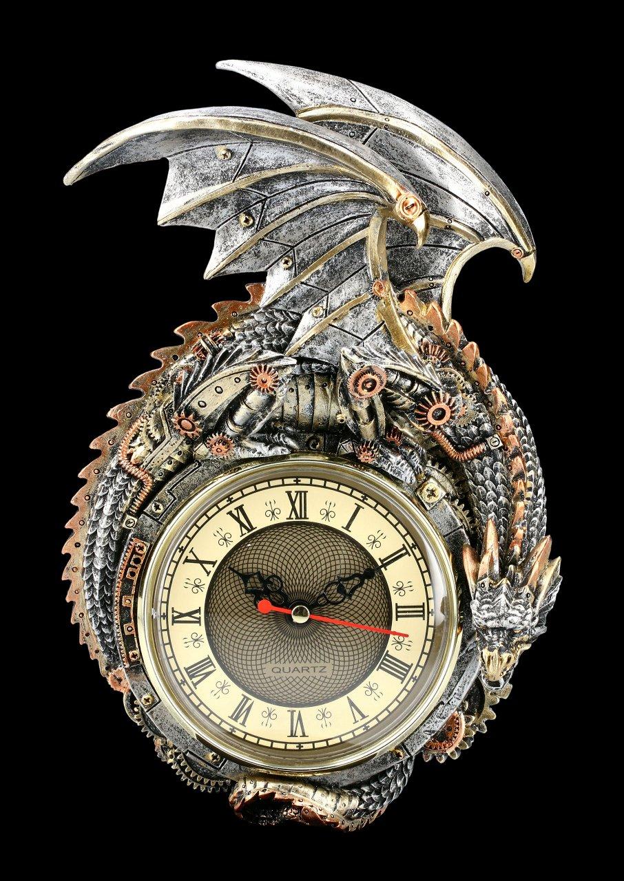 Wanduhr Steampunk Drache - Clockwork Combustor
