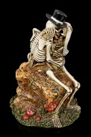 Skelett Figurine - Love Never Dies - Love Rocks