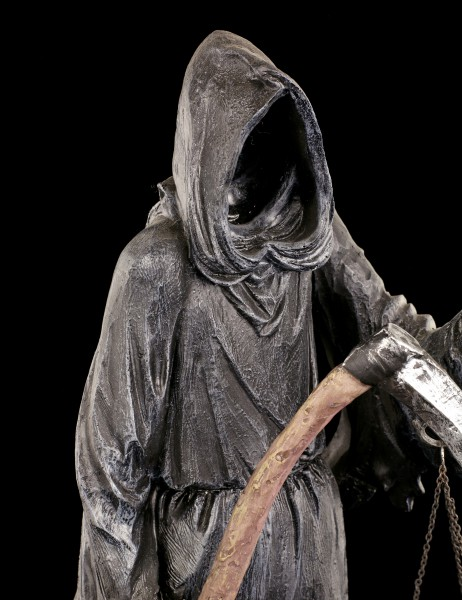 Reaper Figurine with Scythe and Scales - Final Check