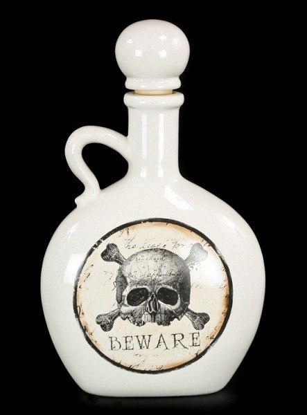 Flasche - Totenkopf Beware
