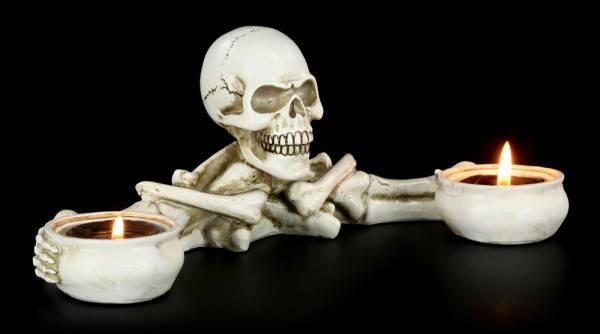 Teelichthalter - Skelett
