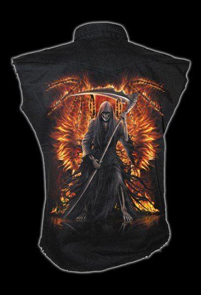 Ärmelloses Worker Shirt - Flaming Death