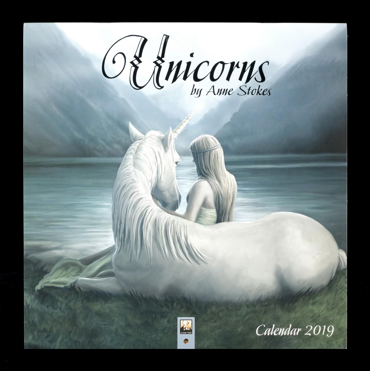 Anne Stokes Calendar 2019 - Unicorns