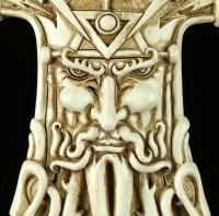 Wandrelief - Thors Hammer Mjolnir - Weiß