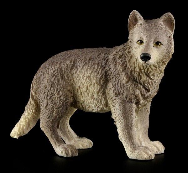 Standing Wolf Puppy Figurine