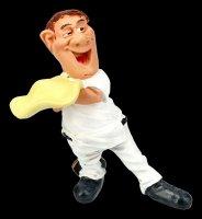 Funny Jobs Figurine - Pizza Maker whirls Pizza Dough
