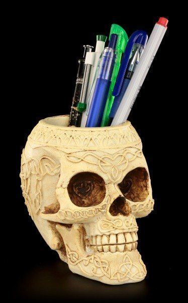 Pen Keeper - Studded Skull