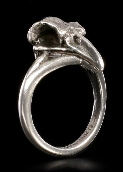 Alchemy Gothic Ring - Kleiner Rabenschädel