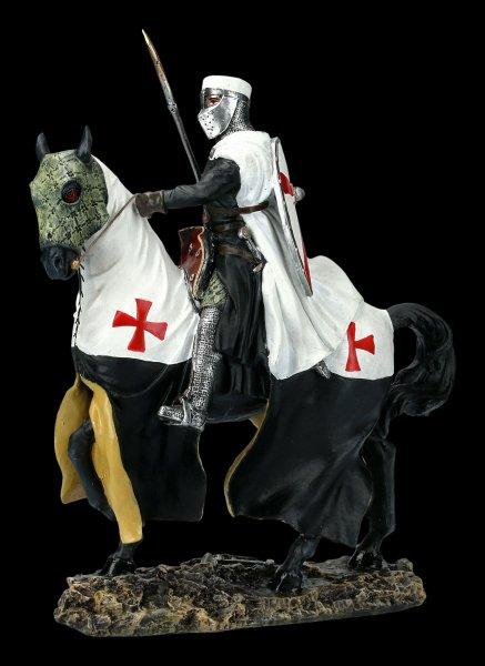 Deutsche Tempelritter Figur auf Pferd mit Speer