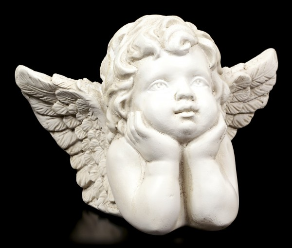 Angel Figurine - Pensively Cherub
