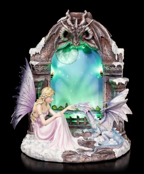 Elfe und Drachen Figur - Lichtportal mit LED