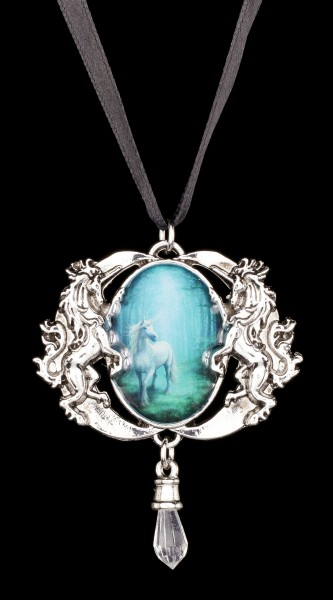 Forest Unicorn Cameo by Anne Stokes