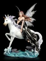 Fairy Figurine - Natascha riding Unicorn