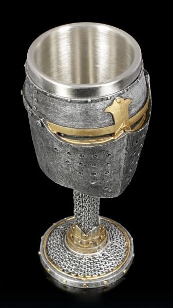 Medieval Goblet - Knight Helmet
