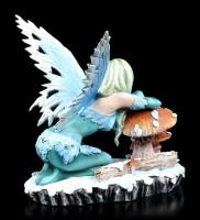 Winter Elfen Figur - Salina mit Pilz