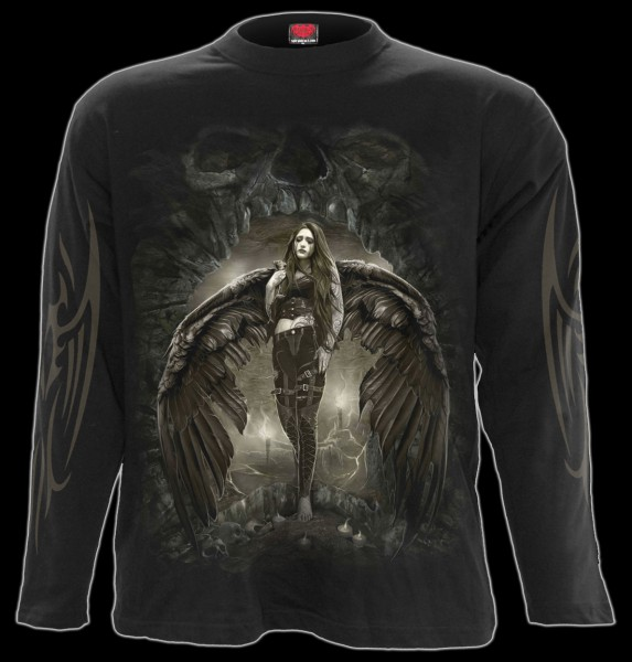 Langarmshirt Gothic Engel - Dark Angel