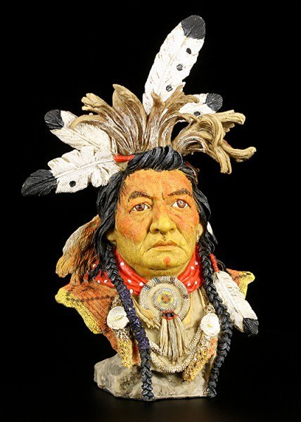 Indianer Büste - Kalispel