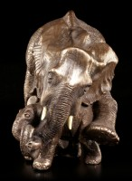 Elephant Figurine - Mother and Baby