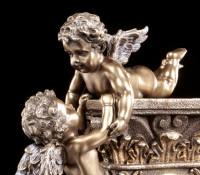 Tischuhr - Zwei Cherubim Engel