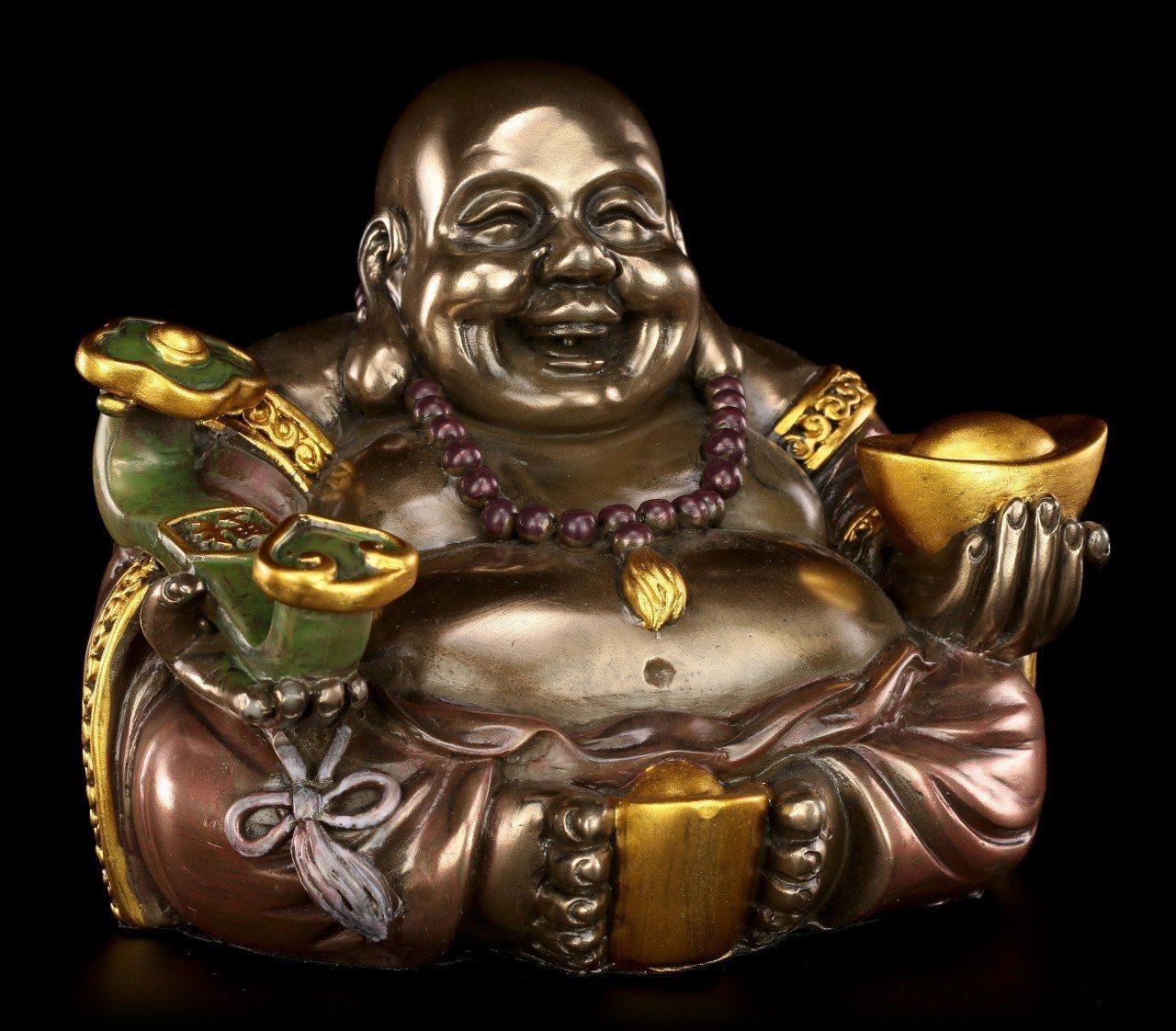 Happy Buddha Figur - Zufrieden und Glücklich