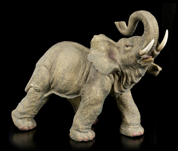 Große Elefanten Figur mit erhobenem Rüssel