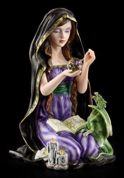 Hexen Figur - Arkana mit Drache