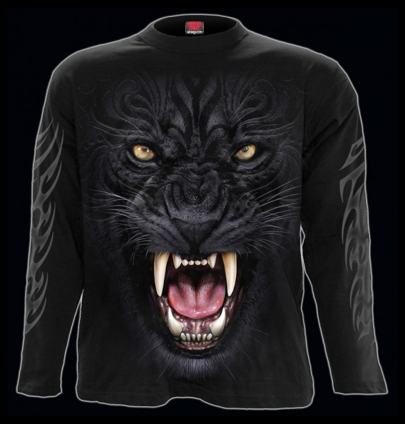 Tribal Panther - Spiral Gothic Longsleeve