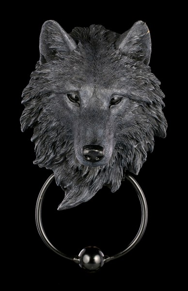 Door Knocker Wolf - Dark Guardian