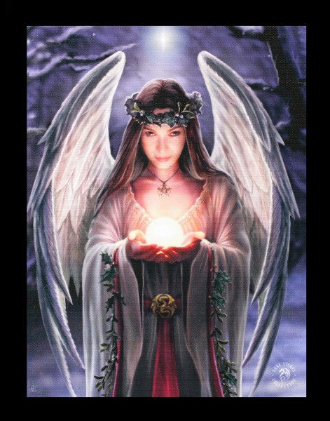 Small Canvas - Yule Angel by Anne Stokes