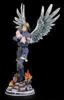 Schutzengel Figur - Feuerwehrmann rettet Baby