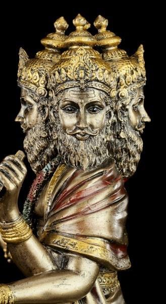 Hinduistische Götter Figur - Brahma - Sitzend auf Lotusblüte
