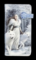 Purse with Wolves - Winter Guardians - embossed