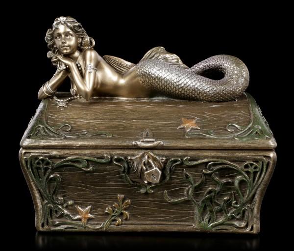 Schatulle - Meerjungfrau auf Schatztruhe