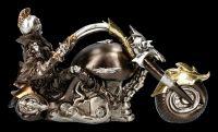 Skelett Figur mit Motorrad - Wheels of Steel