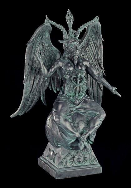 Baphomet Figur - Antik Schwarz