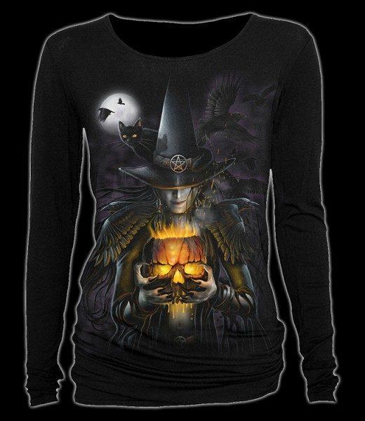 Langarmshirt Damen mit Hexe - Witching Hour