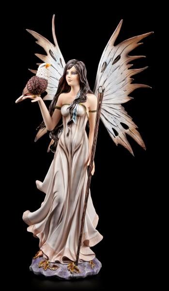 Elfen Figur mit Adler und Zauberstab