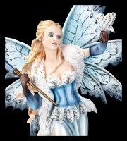 Elfen Figur groß - Tyaida mit Zauberstab und Eule